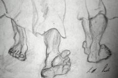 feet in the fields