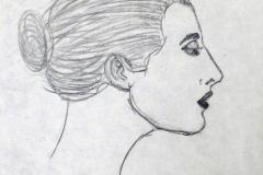 woman, profile