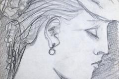 woman, thoughful profile