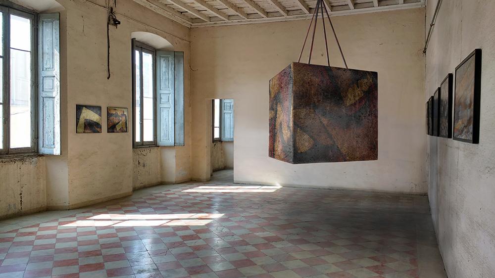 Cutout Cube - suspended variation - rendering Legnano (MI)