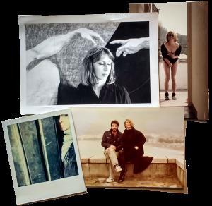 With Australian conceptual artist, Glenda Morgan. (Liguria circa 1982)