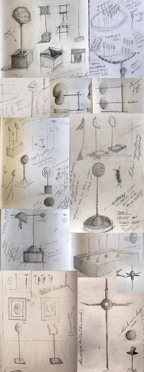 conceptual sketches from sketchbooks